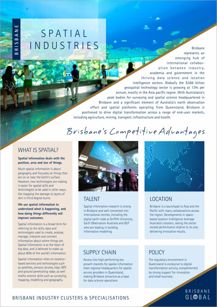 Spatial Industries | Brisbane Trade & Investment Opportunities